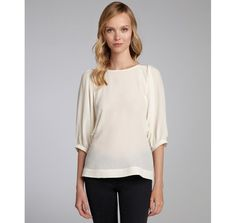 Pippa cream silk dolman blouse