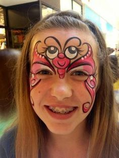 Face Painting - Butterfly by Kelly Jelic