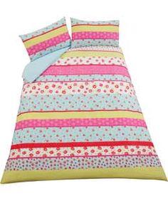 Inspire Patchwork Embellished Duvet Cover Set - Double.