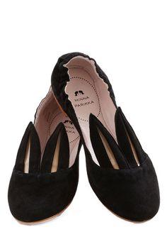 Little Bunny Shoe Shoe Flat in Black | Mod Retro Vintage Flats | ModCloth.com