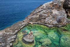 Hidden natural pool on the island of Kythira. Wonderful Places, Beautiful Places, Greece Holiday, Swimming Holes, Group Travel, Greece Travel, Greek Islands, Where To Go, Pond