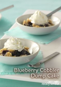 ... quick and easy to prepare dessert with fresh blueberries and cake mix