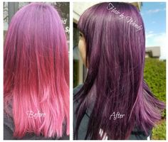 Gorgeous Goldwell deep violet color! Color design by Wendy..