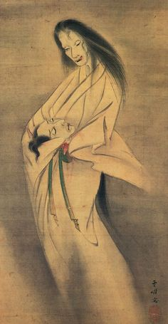 Ghost with a severed head by Kawakami Togai