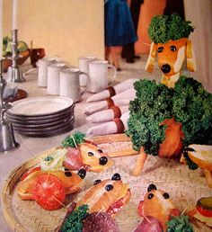 These sandwiches must have been  created by a deranged housewife with too much time on her hands.  (Life, 1960)