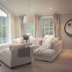 White cosy living room
