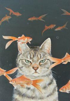 I'm not impressed #cat art