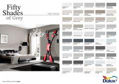 shades of grey color chart shades grey colour chart fifty shades of grey color chart Shades Of Grey Paint, Grey Paint Colors, Fifty Shades Of Grey, Wall Colors, House Colors, Neutral Paint, Grey Colour Chart, Paint Color Chart, Colour Schemes