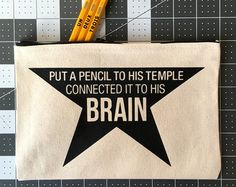 Want to write your first refrain? With this Hamilton Broadway Musical-themed pencil case you could grow up to be a hero and a scholar! Inspired by Alexander Hamilton, these pouches can be used as a pencil case, art pouch, or bag to store your belongings.