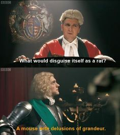A mouse with delusions of grandeur. Horrible Histories>> I used to watch this show ALL THE TIME Bbc Kids, Mathew Baynton, Funny Memes, Hilarious, It's Funny, Funny Stuff, Horrible Histories, Im A Loser, British Things