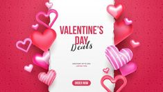cute valentine's day sale promo banner card with decorative hearts and torn paper for text vector template background - Buy this stock vector and explore similar vectors at Adobe Stock Valentine Heart, Happy Valentines Day, Happy V Day, Torn Paper, Sale Banner, Heart Patterns, Vector Free, Balloons, Invitations