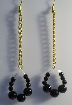 aretes #3285   valor $3000 Pearl Necklace, Pearls, Black, Jewelry, Fashion, Stud Earrings, Accessories, String Of Pearls, Moda