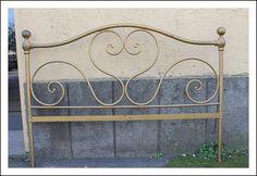 Antica Sponda letto in ferro Battuto 800 Siena Franci Artigiano! Testata antiquariato