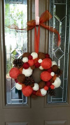 A personal favorite from my Etsy shop https://www.etsy.com/listing/246211339/halloween-wreath-yarn-ball-wreath