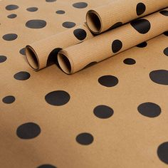 Recycled Black Dotty Gift Wrap Set