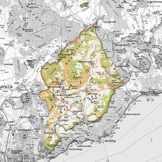 Káli-medence - térkép