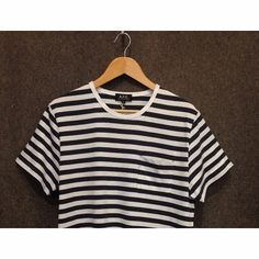 Stripes are definitely in. Keep it simple with this @apc_paris pocket tee. Available online and in store now. £69, S-XL.  #Islington #London #fashion #menswear #mensfashion #style #streetwear #sportswear #stripes #AW15