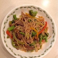 This amazing lo mein is so easy, and the flank steak gives it great flavor.