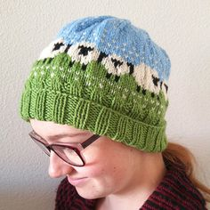 Shetland Sheep Hat, Hand Knitted Baa-ble Hat, Adult Unisex Beanie, Pure Superwash Wool, Winter Hat with Sheep Design, Warm Winter Accessory