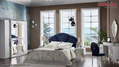 Dormitor modern alb Baron de lux Furniture, Design, Home Decor, Cots, Template, Simple Lines, Decoration Home, Room Decor