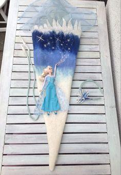 Schultüten - DIY Zuckertüte Bastelset Eiskönigin Elsa XL - ein Designerstück von SibDeSign bei DaWanda