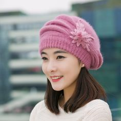17.11$  Buy here - http://viagk.justgood.pw/vig/item.php?t=rt5knz4944 - Winter Hats for Women Casual Skullies Solid Girls cotton Cap Mom Hat Warm Double 17.11$