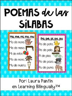 This product includes Spanish syllable poems to introduce/reinforce the syllables of the week! Also, smaller black & white versions of the poem for students to put into their poetry notebooks! Dual Language Classroom, Bilingual Classroom, Bilingual Education, Education Logo, Spanish Classroom, Education Quotes, Preschool Spanish Lessons, Spanish Teaching Resources, Spanish Activities