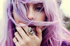 I want this ring and those hairs!  From Planete Blue