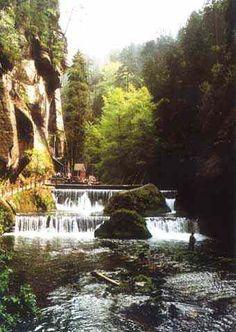 Tichá soutěska Hřensko skalnatý kaňon řeky Kamenice