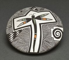 Small Seed Pot by Carolyn Concho (Acoma)...I love pueblo pottery and this is just superb