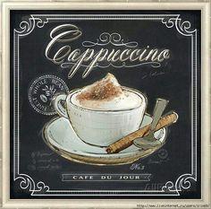 Art Print: Coffee House Cappuccino by Chad Barrett : Coffee Latte Art, I Love Coffee, Mocha Coffee, Starbucks Coffee, Coffee Barista, Coffee Scrub, Coffee Creamer, Fresh Coffee, Coffee Shops