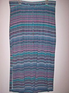 225485b5f Lane Bryant 18/20 Turquoise Chevron Striped Slinky LONG Maxi Skirt # LaneBryant #Maxi #Casual