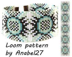 Bead loom pattern Square stitch pattern Loom bracelet pattern