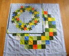 Bergfruas lapper: Blomsterkrans. Cute Quilts, Scrappy Quilts, Small Quilts, Mini Quilts, Quilting Templates, Quilting Tutorials, Quilting Projects, Quilting Designs, Flick Flack