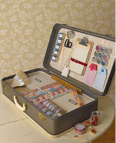 So want to do something like this. Site has several other ideas for old suitcases.