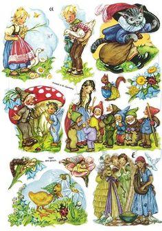 Vintage German Fairytales Motifs Number 5 Die Cuts Sheet Germany | eBay