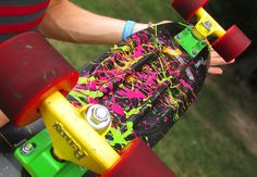 0bsessinq:  Troysplatter painted his penny board :3 If you change the source bad things will happen.