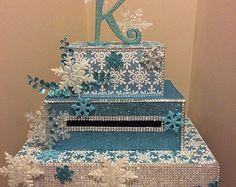Winter wonderland/snowflake card box for weddings, sweet 16, quinceanera, bar mitzvah, anniversary custom made how YOU want!
