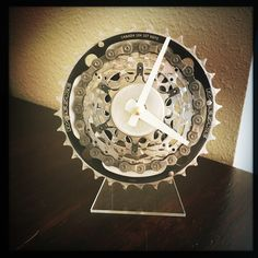 at i know with this bike gear desk clock on your