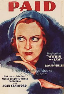 Classic Movies Digest: Paid (1930): Joan Goes to Jail