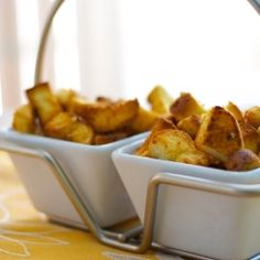 Croutons - Homemade garlic and cheese croutons using leftover potato hot dog rolls