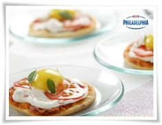 mini pizzas con huevos de codorniz