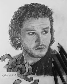Derwent Pencils, Kit Harington, Pencil Drawings, Thinking Of You, Paper, Instagram, Art, Thinking About You, Craft Art