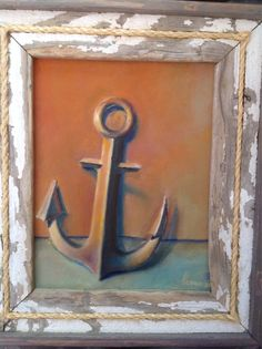 Anchor original oil painting in a nice frame by lenanavarro, $150