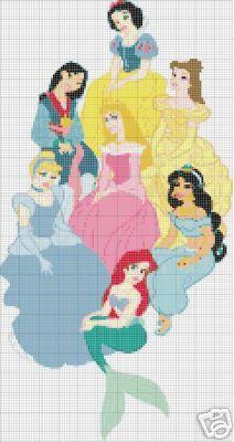 Schemi Punto Croce della Walt Disney, Le Principesse Disney | Punto Croce