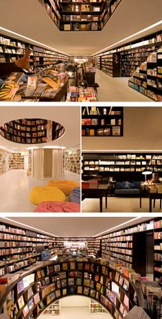 Great bookstore in San Paulo with floor for kids books. retail design | McCabe Design News