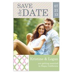 x die cut save the date magnet in red and yellow photos preppy spring save the date cards walmart stationery