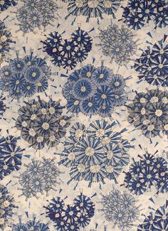 Liberty of London. Floral pattern in blue