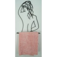 Wrought iron towel rack towel holder for the bathroom or pool