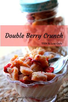 Double Berry Crunch Cereal is a trimming and healthy cereal option for those following the Trim Healthy Mama Lifestyle. This satisfying cereal can also be used as a yogurt topping and is a great craving buster.